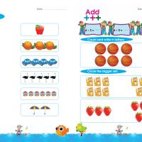 أوراق عمل Worksheets math KG2